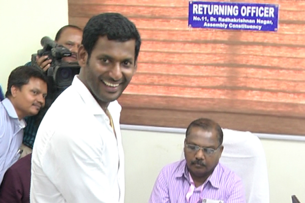 Actor Vishal's nomination from RK Nagar rejected by Office of the Election Commission