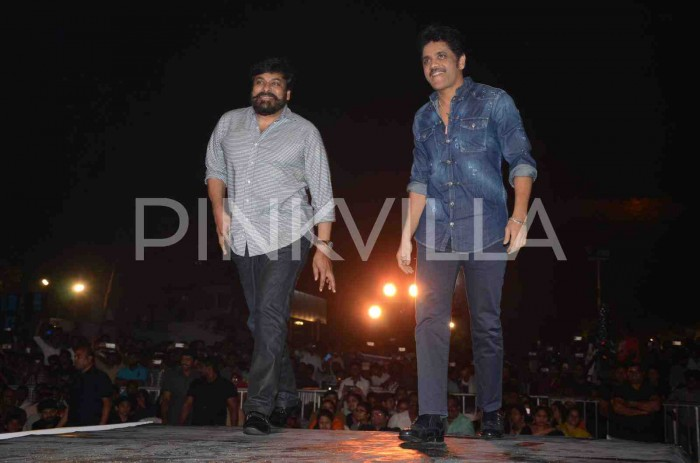 Photos: Mega Star Chiranjeevi and Ram Charan grace the pre-release event of Akhil Akkineni's 'HELLO'