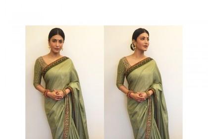 Shurthi Haasan looks radiant as a Tamil ponnu.