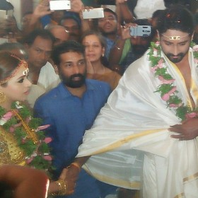 Bhavana and Naveen's wedding reception video is not be MISSED