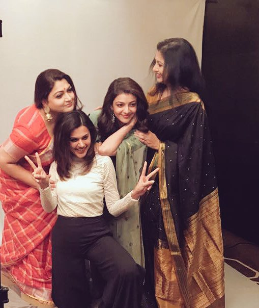 Kajal Aggarwal, Taapsee Pannu, Gautami and Khushboo pose for an epic pic