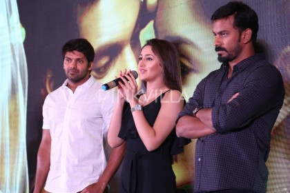 Photos: Arya and Sayyeshaa launch the latest single from Ghajinikanth