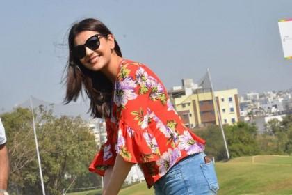 Photos: Kajal Aggarwal tees off in Style