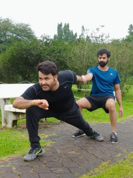 This photo of Mohanlal and his son Pranav will give you fitness goals
