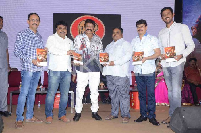 Photos: Nandamuri Balakrishna and director KS Ravi Kumar attend the pre-release event of 'Jai Simha'