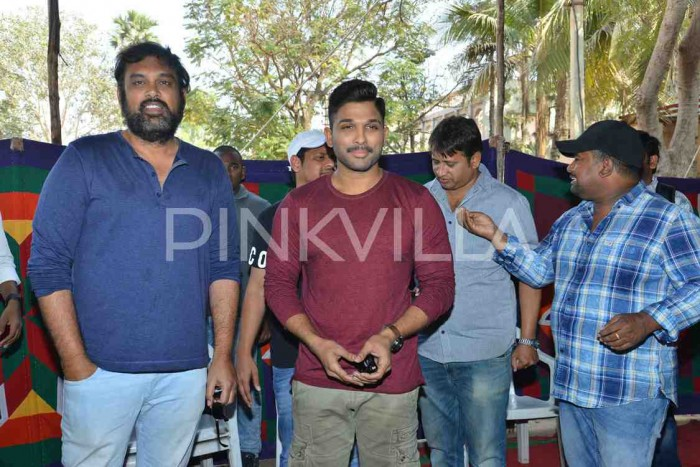 Photos: Allu Arjun, Vakkantham Vamsi and producers interact with media about 'Naa Peru Surya'