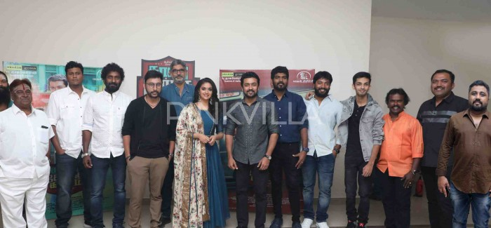 Photos: Suriya, Keerthy Suresh and Vignesh Sivan attend the pre-release event of 'Thaanaa Serndha Koottam'