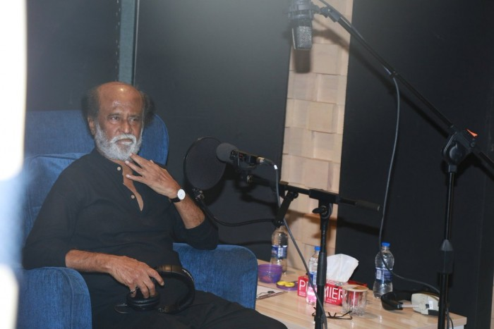 Photos: Rajinikanth dubs for Kaala