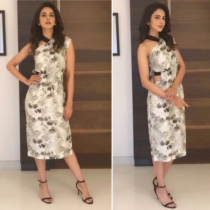 Photos: An elegant Rakul Preet promotes her Hindi film Aiyaary