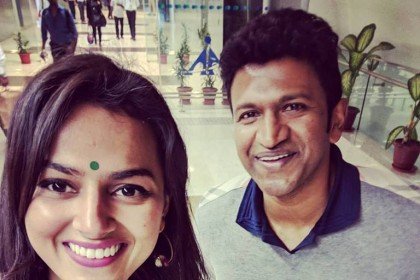 This photo of Puneeth Rajkumar and Shraddha Srinath is priceless