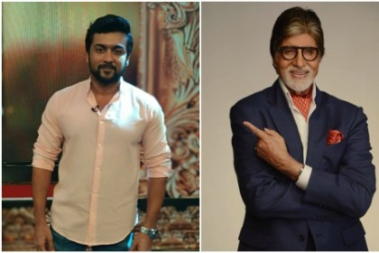 Is Amitabh Bachchan playing a role in Suriya's next with director KV Anand?