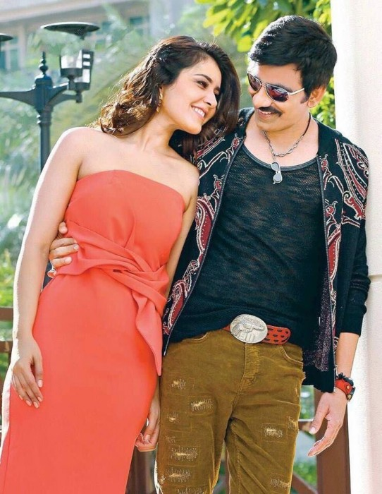 Ravi Teja and Raashi Khanna make a good pair in this still from 'Touch Chesi Chudu'
