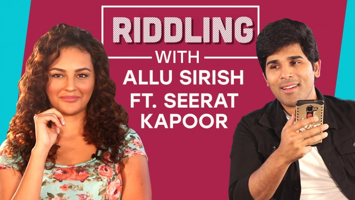 Watch Video: Riddling with Allu Sirish featuring Seerat Kapoor