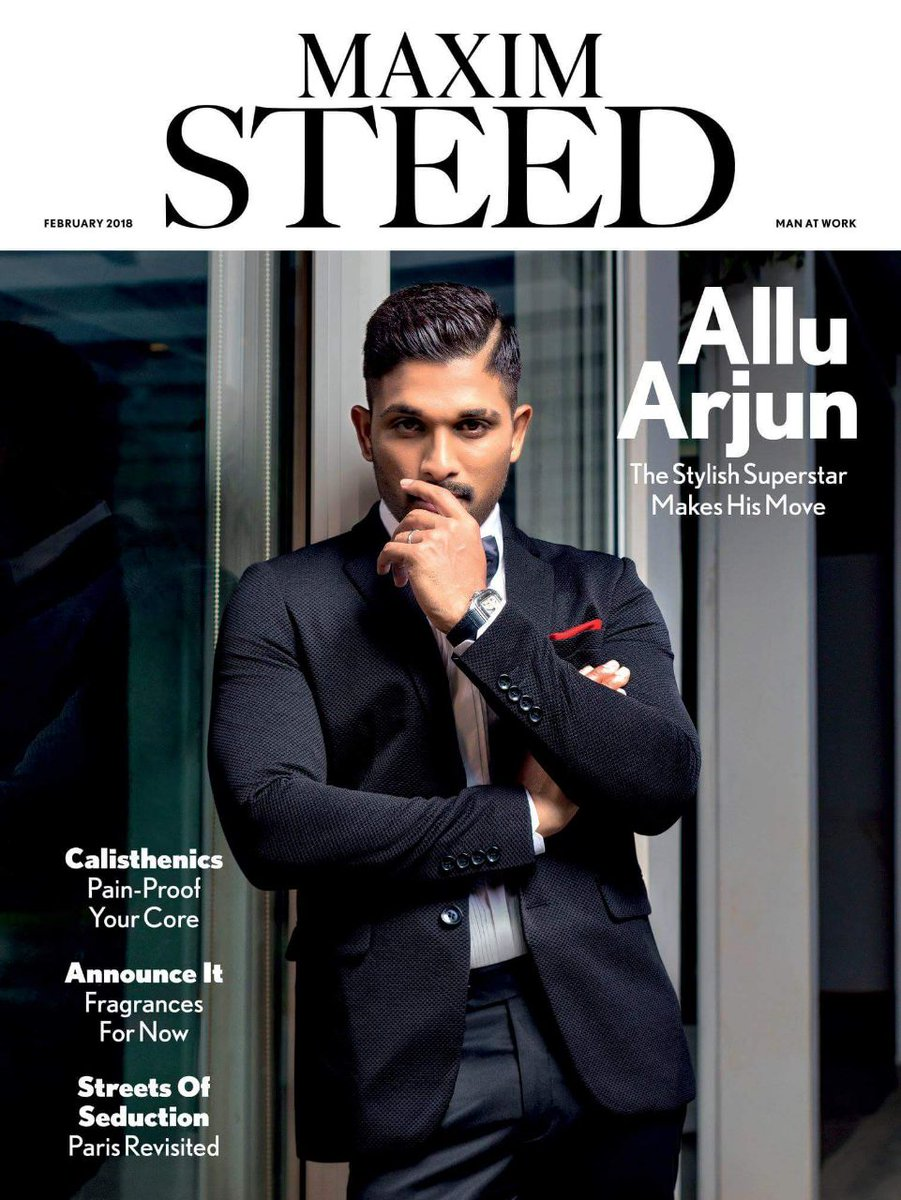 A Suave Allu Arjun Graces The Cover Of A Popular Magazine