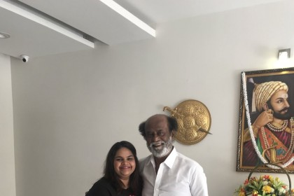 Actor Vidyu Raman meets Rajinikanth