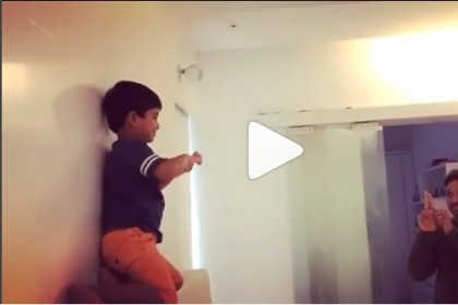 Watch Video: Allu Arjun and son Ayaan recreate Priya Prakash Varrier's bullet kiss and it is adorable