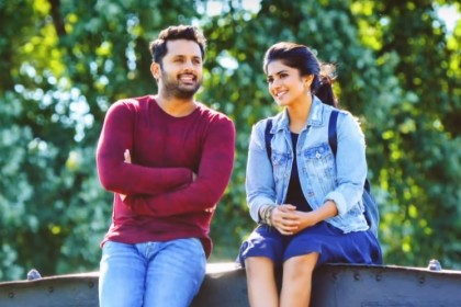 This song Ga Gha Megha from Nithiin's Chal Mohan Ranga is a pleasant number