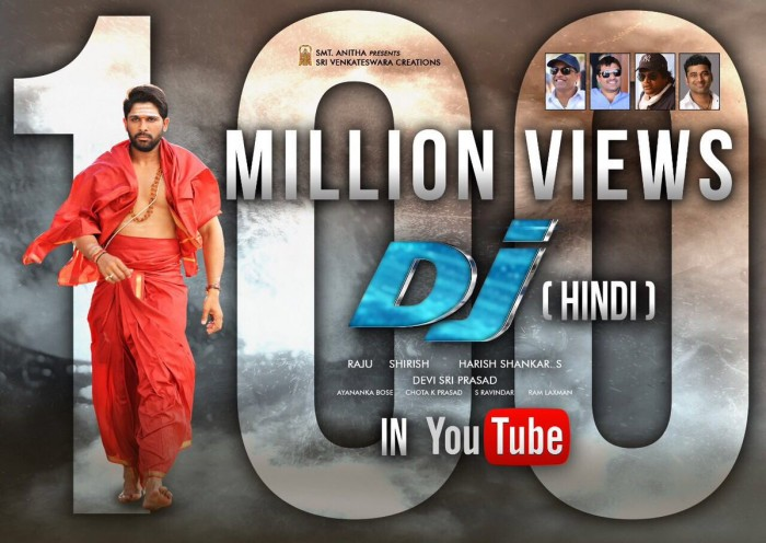 The Hindi dubbed version of Allu Arjun's Duvvada Jagannadham reaches a milestone
