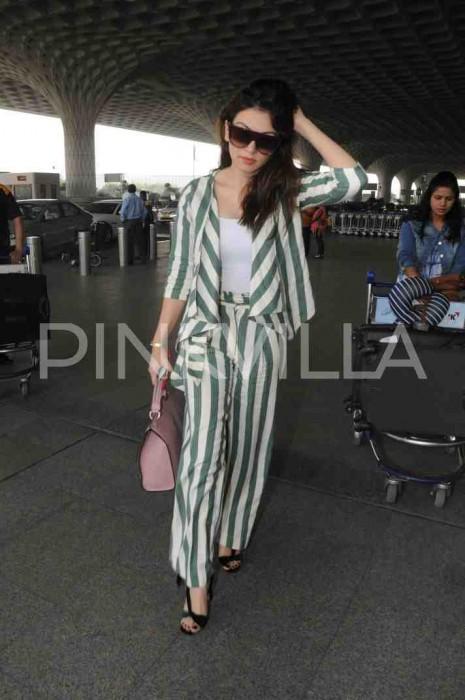 Airport Diaries: Hansika Motwani spotted at the airport in Mumbai