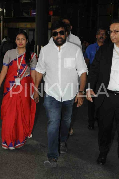 Sridevi Demise: Megastar Chiranjeevi arrives in Mumbai to attend the funeral of the superstar