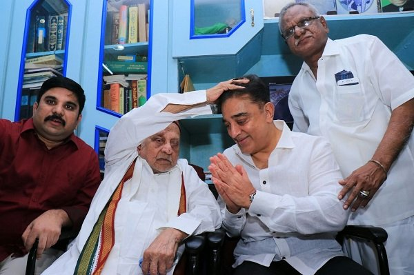 Kamal Haasan begins his political journey, meets APJ Abdul Kalam's brother