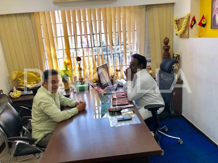 Photos: Kamal Haasan meets actor-turned-politician Vijayakanth