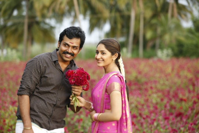 Karthi-Sayyeshaa make a lovely pair in this still from that Kadai Kutty Singam