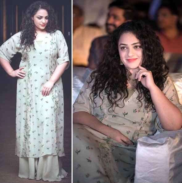 Photos: A graceful Nithya Menen attends the pre-release event of AWE