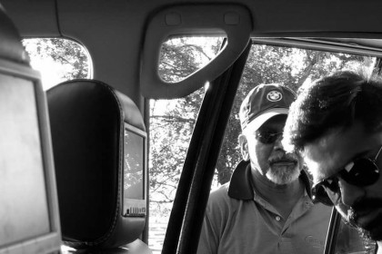 Photo: Simbu and Mani Ratnam on the sets of Chekka Chivantha Vaanam