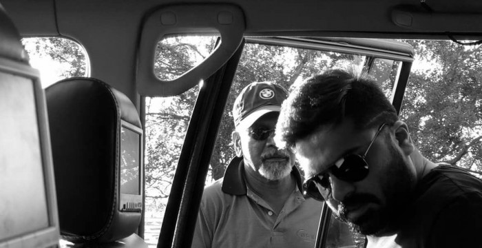 Photo: Simbu and Mani Ratnam on the sets of Chekka Chivantha Vaanam