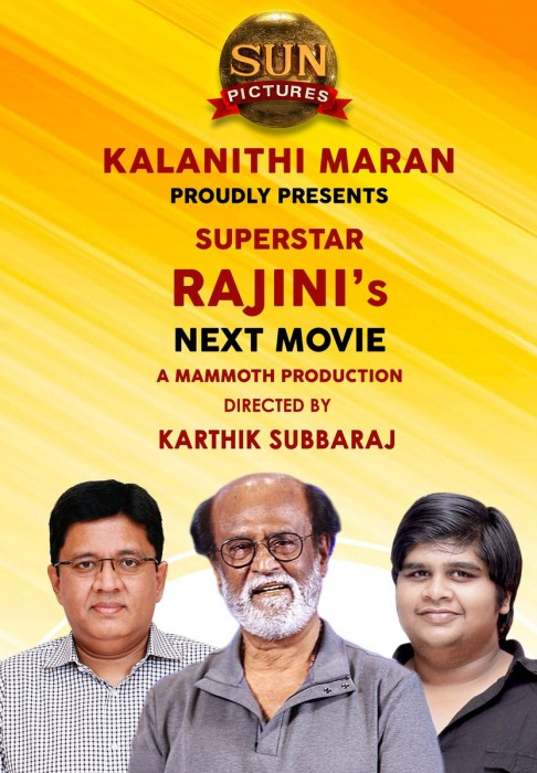 Superstar Rajinikanth to team up with Karthik Subbaraj for his next after 2.0