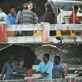 Photo: Samantha on the shoot location of the U Turn remake