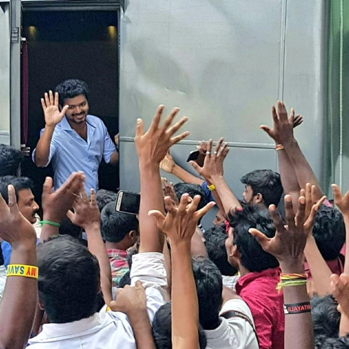 Watch: This video from the shooting spot of Vijay's next with AR Murugadoss shows the craze amongst his fans