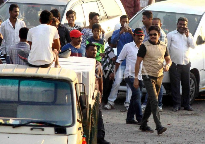 Photos: Nagarjuna and Ram Gopal Varma spotted on the sets from their upcoming film in Mumbai