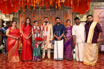 Photos: Rajinikanth, Suriya, Jyothika and many other Tamil actors attend the wedding of Keerthana and Akshay