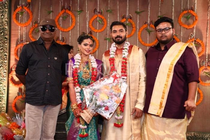 Photos: Rajinikanth, Suriya, Jyothika and many other Tamil actors attend the wedding of Keerthana and Akshay