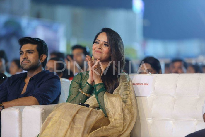 Photos: Mega Star Chiranjeevi graces the pre-release event of Ram Charan's Rangasthalam