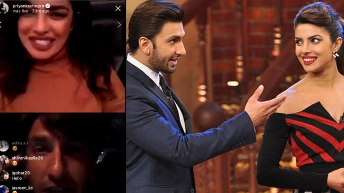 आधी रात को रणवीर सिंह को प्रियंका चोपड़ा ने किया वीडियो कॉल
