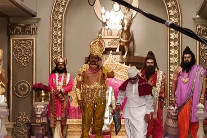 Photos: Nandamuri Balakrishna begins shooting for the prestigious NTR biopic