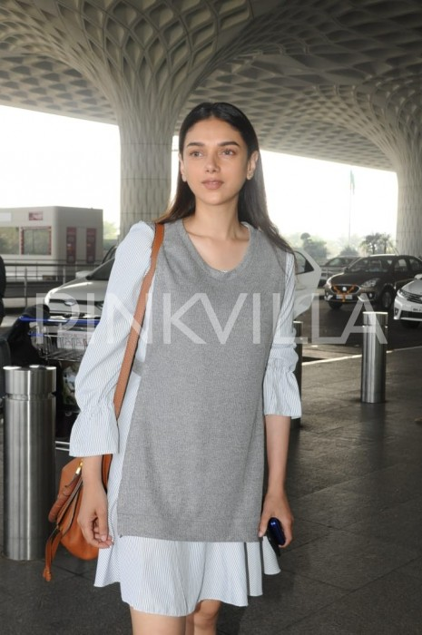 A ravishing Aditi Rao Hydari makes an appearance at the Mumbai airport