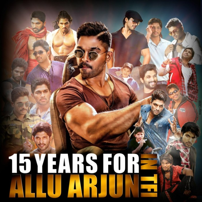 Allu Arjun completes 15 years in the industry and fans of the Stylish Star take his stardom to next level