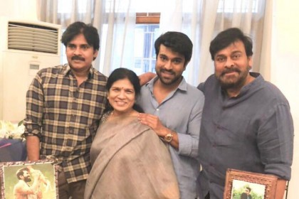 Chiranjeevi and Pawan Kalyan come together to celebrate Ram Charan's birthday