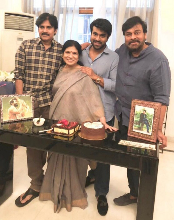 Chiranjeevi and Pawan Kalyan come together to celebrate Ram Charan's birthday