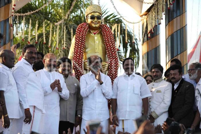Photos: Superstar Rajinikanth unveils statue of MGR