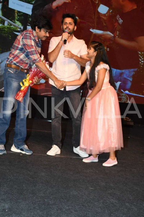 Photos: Pawan Kalyan attends the pre-release event of Nithiin's Chal Mohan Ranga