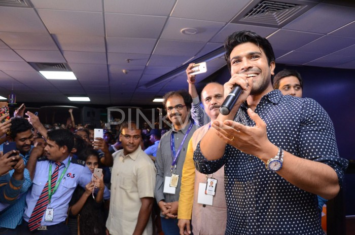 Photos: Ram Charan sheds his Rangasthalam beard-look as he attends an event in Hyderabad