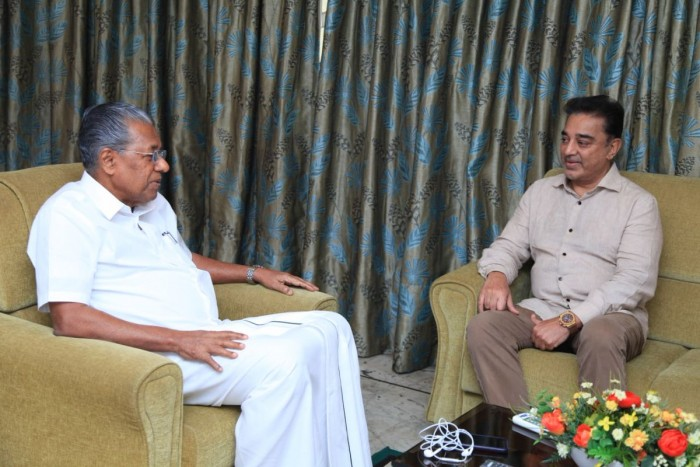 Kamal Haasan meets the Kerala CM