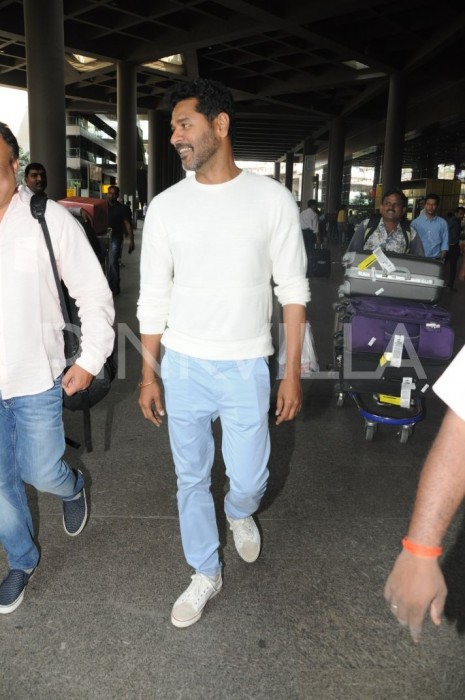 Airport Spotting: Prabhudheva returns to Mumbai