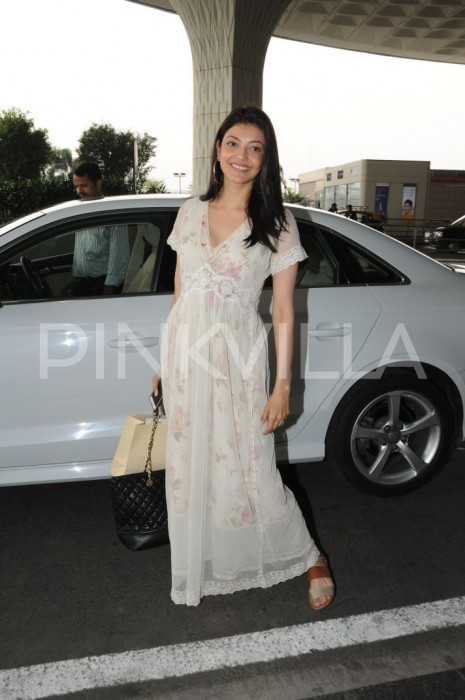 Airport Spotting: Kajal Aggarwal aces a simple look for a flight journey
