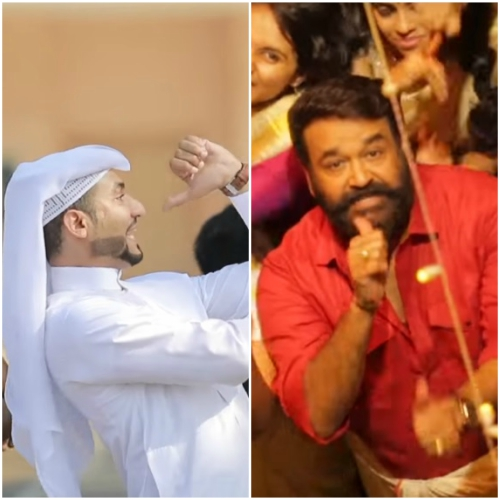 Watch: This diehard Arabic fan of Mohanlal pays a tribute by recreating Jimikki Kammal song